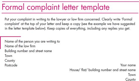 formal grievance template complaint letter template october 2012