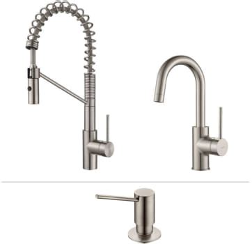 bar with faucet combo kraus kpf2630260041ss single handle commercial style pull