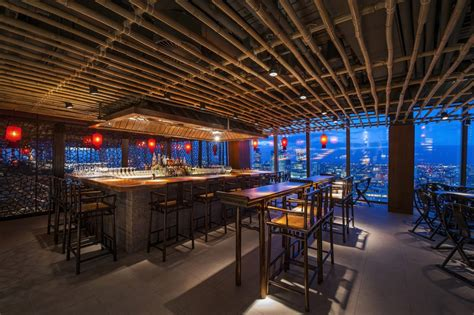 bar at the top of the shard into lighting bar at hutong the shard