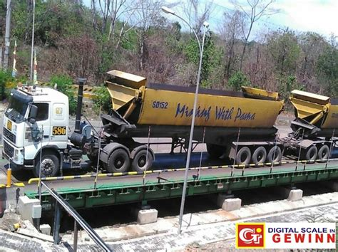Timbangan Truk jembatan timbang untuk perusahaan pertambangan pengolahan