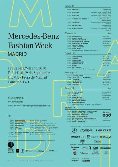 madrid fashion week entradas calendario y horarios de la fashion week madrid 2017