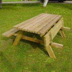 Bench Footwear Grange Rectangular Wooden Garden Picnic Table With Fold Up