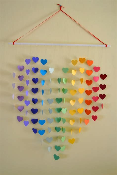 Handmade Wall Hangings Ideas - large rainbow mobile arts crafts