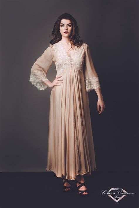 Negligee Silk Designer Negligee Longchamp By Lililiana Casanova