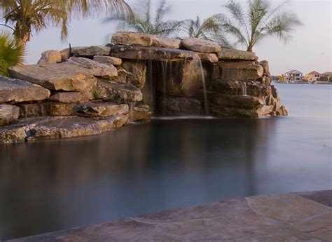 natural stone swimming pool waterfalls top ten grotto 301 moved permanently