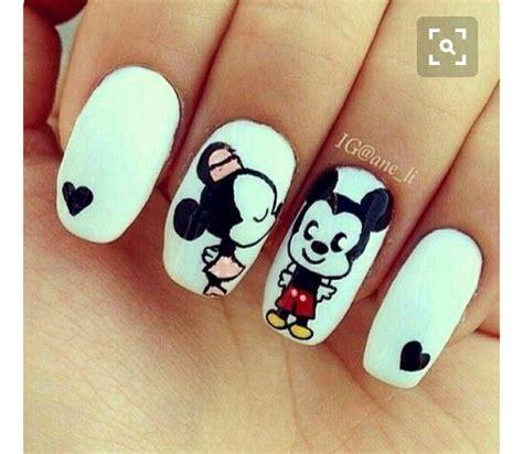 imagenes sobre uñas pintadas las 25 mejores ideas sobre u 241 as de mickey mouse en