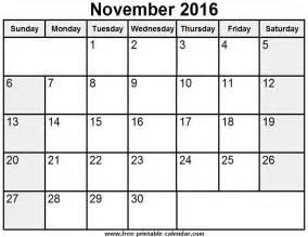 calendar template november november 2016 calendar printable