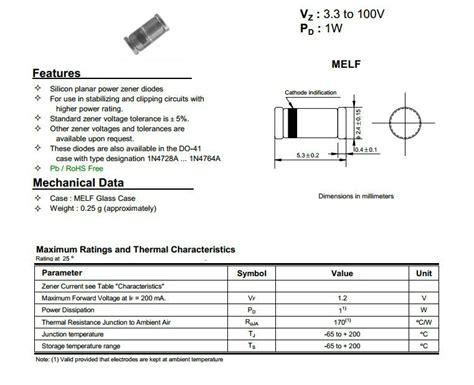 1 2 watt zener diode datasheet dl4739 9 1v 1w smd zener diode view 1w smd zener diode lge product details from shenzhen
