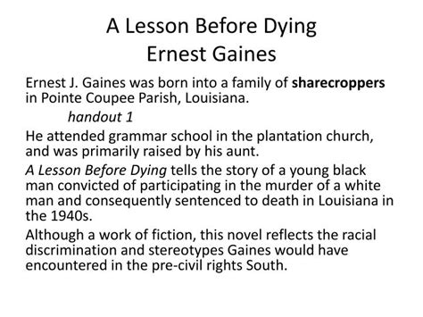 A Lesson Before Dying Essay Topics by Essay Topics On A Lesson Before Dying Writerstable Web
