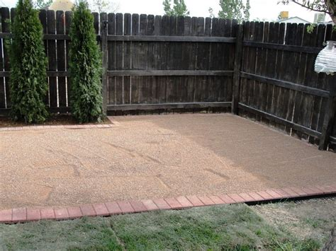 pea gravel backyard image of how to build a pea gravel patio backyard bliss