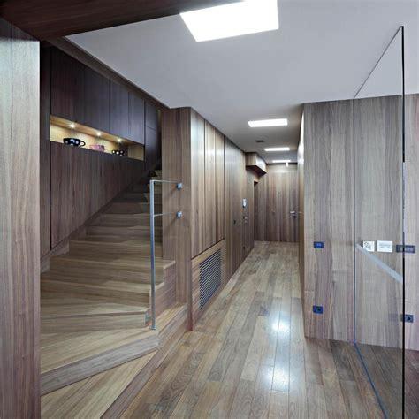 minimalist foyer design concrete circular stairwell focus of minimalist residence