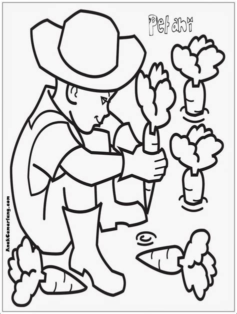 Coloring Mewarnai Profesi 124 best colouring images on coloring books