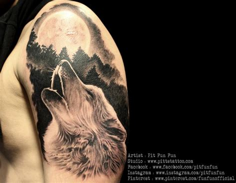wolf howling tattoo wolf howling by pit pinteres