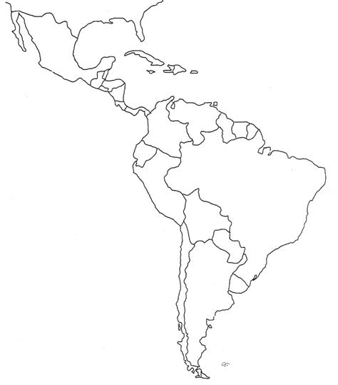 south america blank physical map america map template america outline map