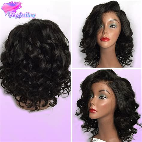 loose wave bob wig full lace brazilian bob wigs glueless virgin human hair