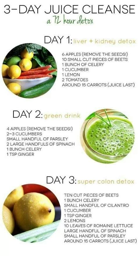 Detox Juice 3 Days Ingredient by 3 Day Juice Cleanse Happy Healthy