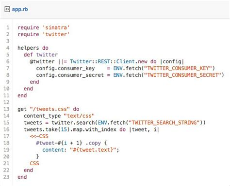 css layout exles with code how to code a live twitter feed in email litmus software inc