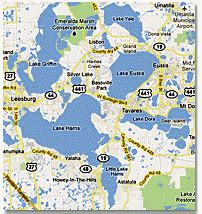 chain of lakes florida map the florida harris chain of lakes