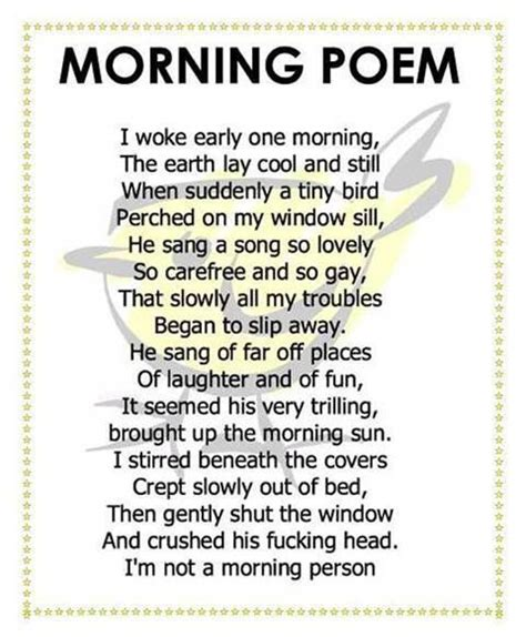 Poetry For Adults Thread Morning Poem