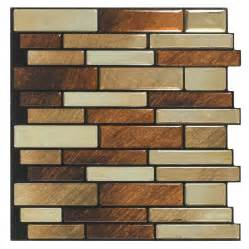 Peel And Stick Mosaic Tile Shop Peel Amp Stick Mosaics Peel And Stick Brushed Copper