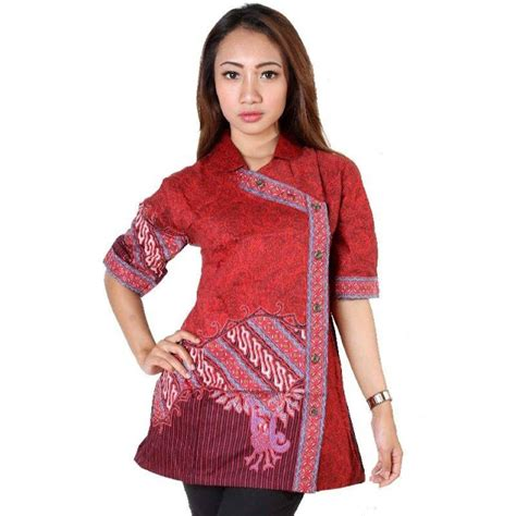 desain baju batik kekinian 10 model baju batik kantor wanita terbaru desain kekinian