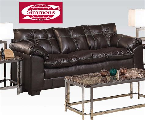 simmons bonded leather sectional simmons premier onyx bonded leather match sofa