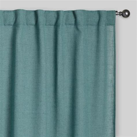 Concealed Tab Curtains Blue Concealed Tab Top Curtains Set Of 2 World Market