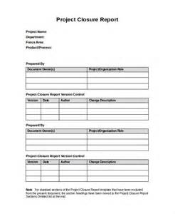 project closure template 32 report templates free sle exle format free