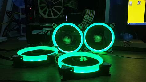 Cube Gaming Aura Rgb 3xdouble Ring Fans Wireless Remote fan rgb 12mm