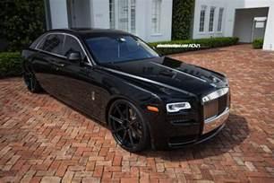 Murdered Out Rolls Royce Rolls Royce Ghost Adv08 M V1 Sl Ppg Wheels Adv 1 Wheels