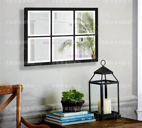 Wall Decor Mirror Home Accents Metal Wall Mirrored Square Wall Decor Mirror Panel Mirror In Decorative Mirrors From Home