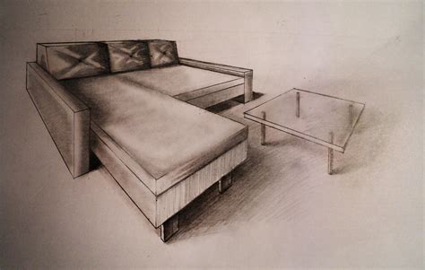 how to draw furniture sofa easy perspective drawing 23 youtube how to draw two point perspective sofa with coffee