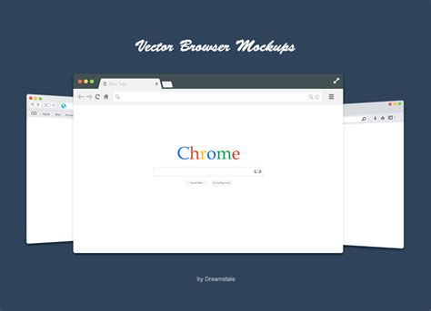 browser eps free flat vector browsers set