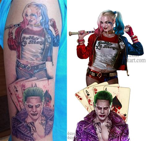 joker tattoo controversy commission joker and harley quinn tattoo design dc