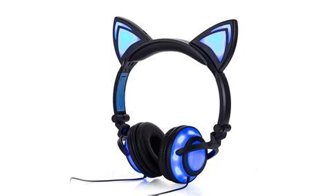 jamsonic dj style light up cat ear headphones jamsonic led dj style ear light up cat ear headphones