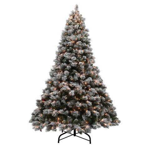 lightly flocked trees donner blitzen 9 lightly flocked buchanan pine