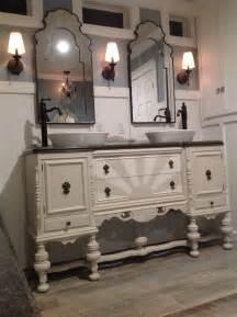 sideboard bathroom vanity our antique sideboard buffet repurposed into a bathroom
