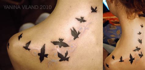 flying birds tattoo meaning exquisite silhouette of birds in flight by yanina
