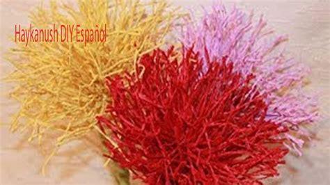 cadenas de flores de papel crepe como hacer cadenas de crepe youtube como hacer flores de