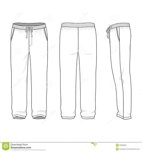 Blank Men S Sweatpants Stock Vector Illustration Of Garment 52832952 Sweatpants Template Vector