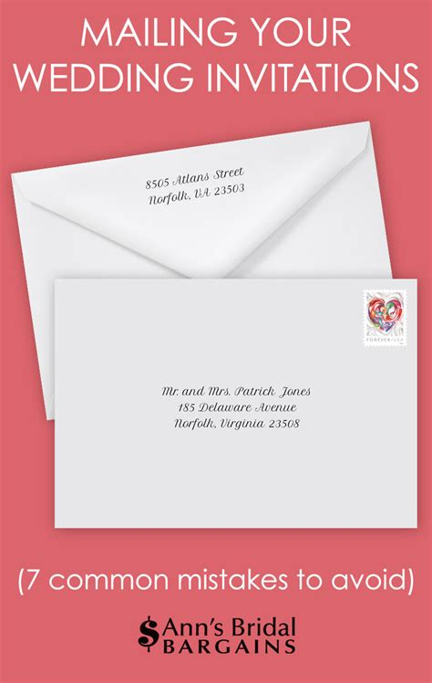 wedding invitation mailing timeline mailing invitations 7 common mistakes s bridal bargains