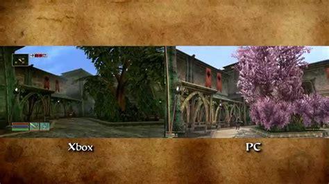 morrowind console morrowind visual comparison pc modded mgso vs xbox