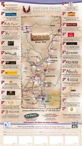 umpqua valley winegrowers wine tour map