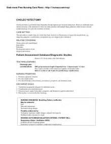 teaching plan template for nurses nursing care plan on cholecystectomy