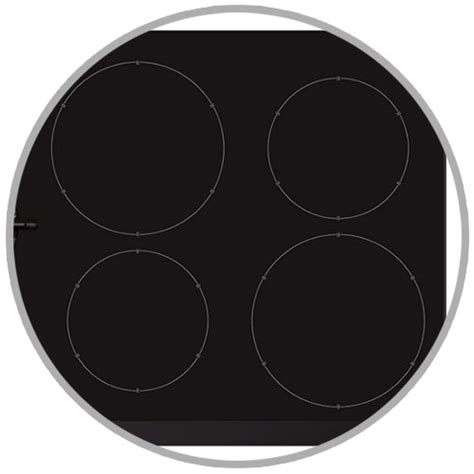 induction cooking zones cda hng7410fr 78cm frameless hybrid dual fuel gas and induction hob black appliances direct