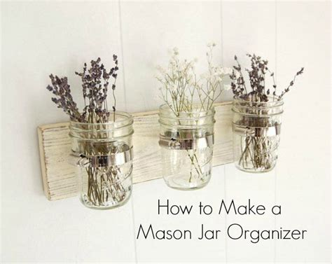 diy room decor how to make a jar bathroom organizer
