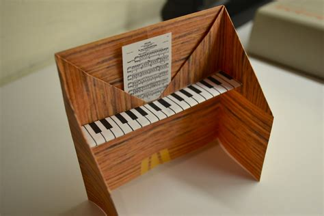 How To Make A Paper Piano - piano origami activity