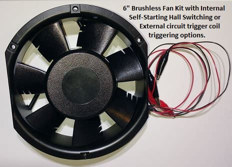 6 inch computer fan 6 inch brushless fan negative energy kit