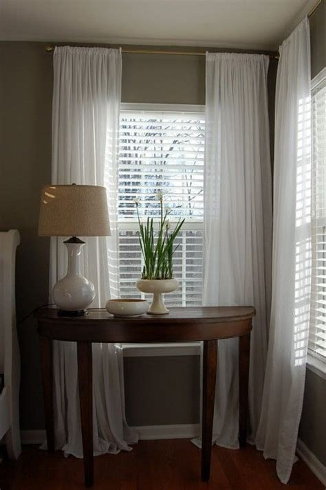 shutters and curtains 1000 ideas about cheap window treatments on pinterest