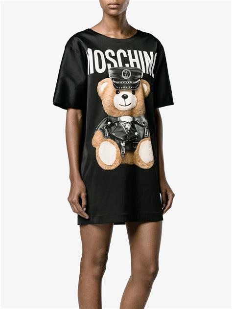 Dress Teddy House lyst moschino teddy print t shirt dress in black